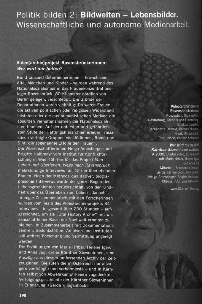 Kopie aus dem Diagonale-Katalog (Festival des österreichischen Films) 2001